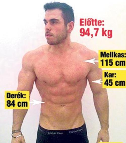 12 kilót adott le 24 óra alatt
