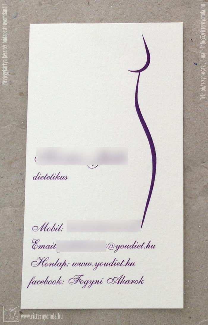 fogyás névjegykártya