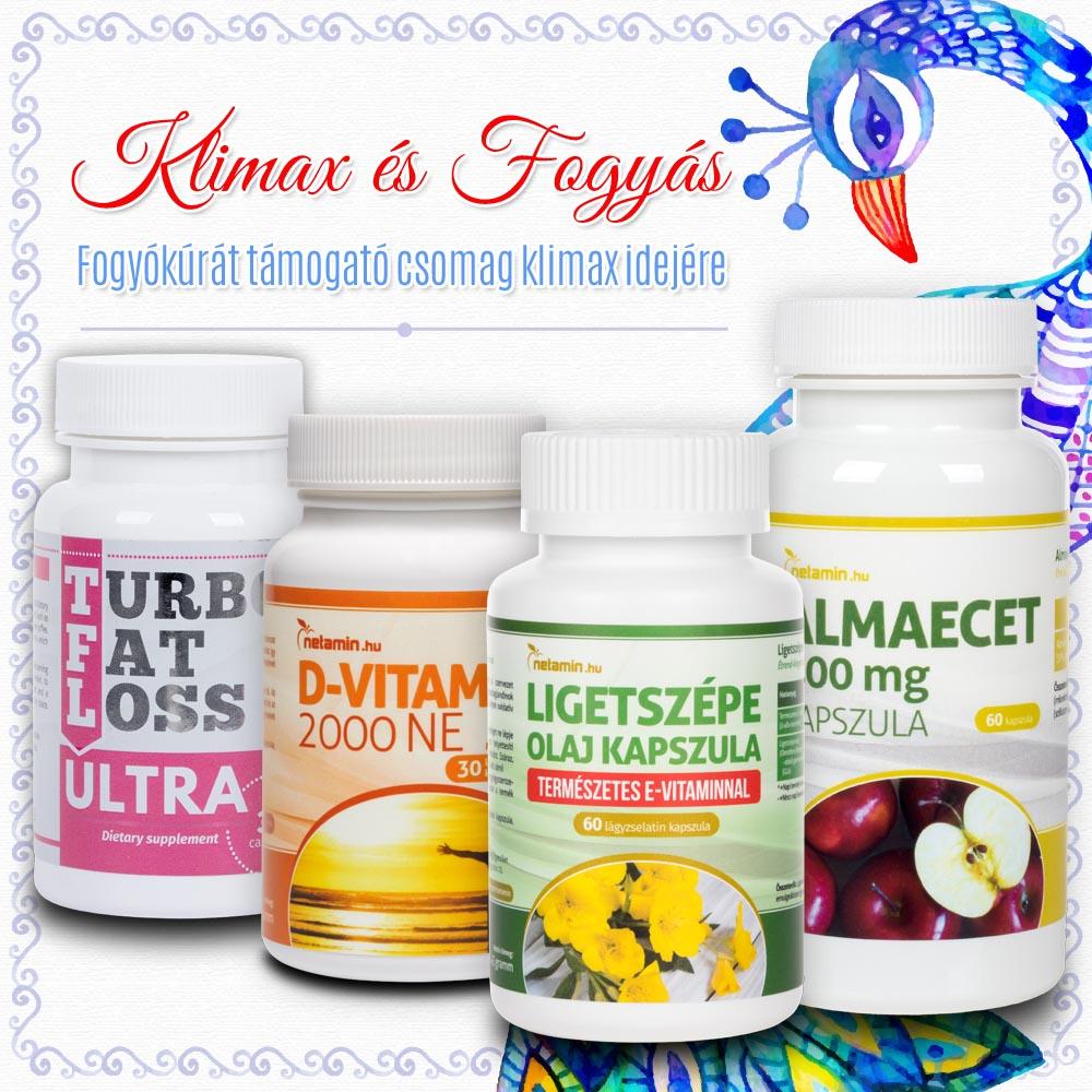 természetes fogyás menopauza esetén