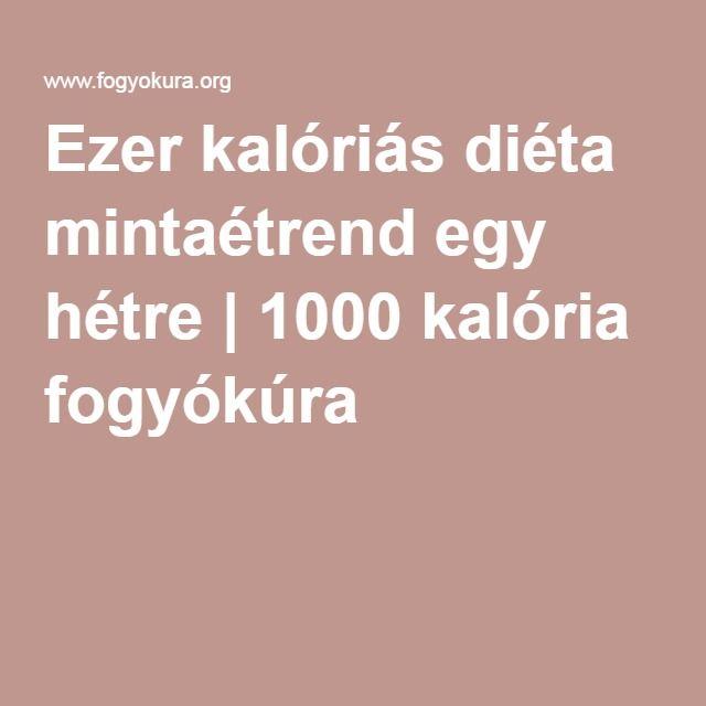 1000 kalória diéta)