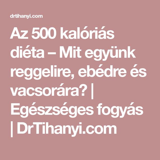 500 kalóriás étrend)