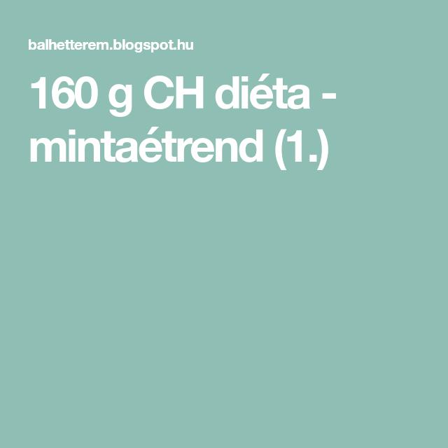 szénhidrát diéta mintaétrend)