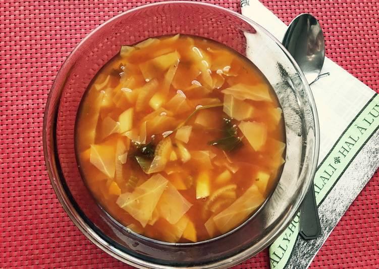 fogyókúrás káposzta leves recept