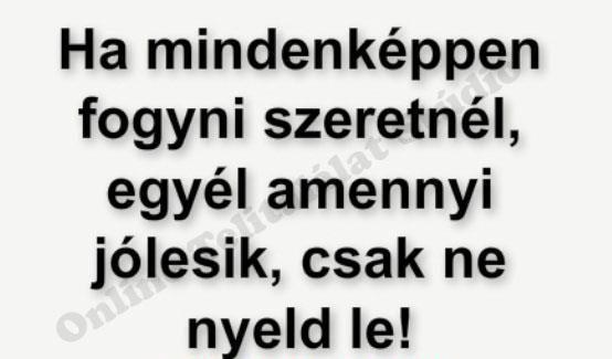 fogyás humor)