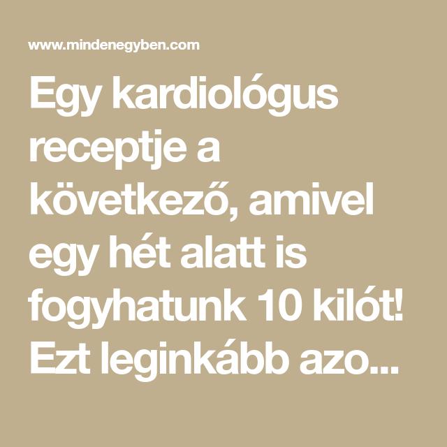 kardiologus diéta)